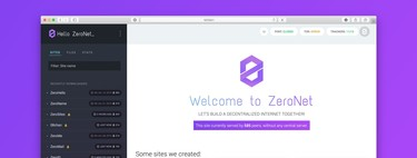 This is ZeroNet, the alternative P2P internet that 8chan has moved to and makes it (almost) impossible to close