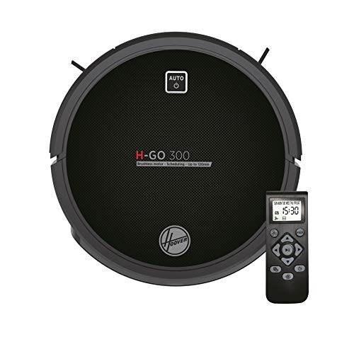Hoover H-GO 300 -HGO310 Robot Vacuum Cleaner, 120 min Lithium battery, Inverter Motor, Remote Control and Charging Base, anti-fall and anti-shock sensors