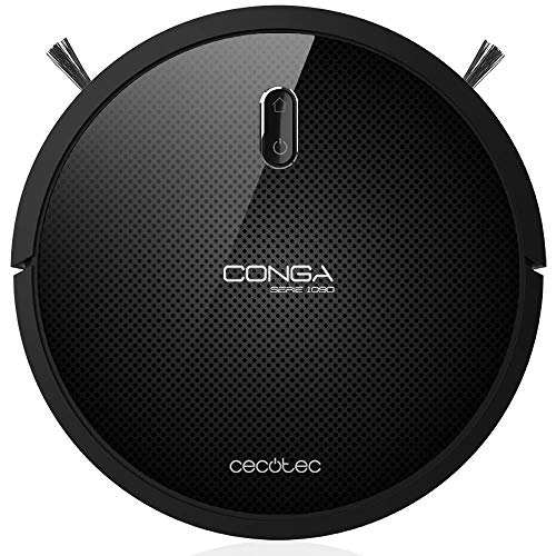 Cecotec Robot vacuum cleaner and floor scrubber Conga 1090. Vacuum, Sweep, Scrub and Mop, iTech Space, 5 Modes, 1400 Pa, Detect obstacles, Pet Brush, 160 min Autonomy