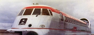 Aerotrain, the hybrid between airplane and train that broke speed records half a century ago