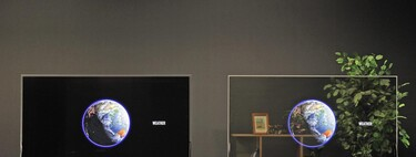 The new Panasonic OLEDs are transparent and solve the issue of light: with their dark mode they will reveal what is behind only when interested