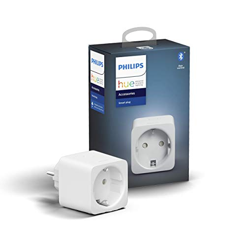 Philips Hue Socket Smart Plug, with Bluetooth, Compatible with Alexa and Google Home