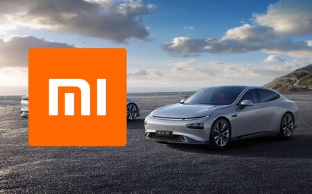 Generic electric car with the Xiaomi logo on one side.