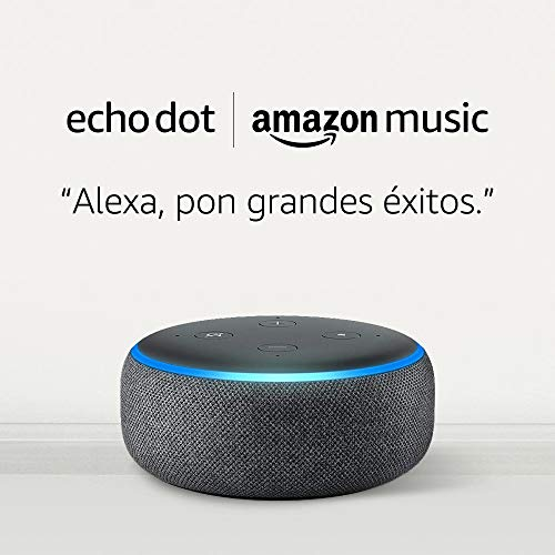 Amazon Echo Dot (3rd Gen) Anthracite Fabric + Amazon Music Unlimited (6 Months FREE with Auto Renewal)